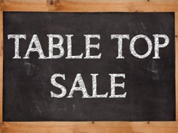Table top sale at West Bradford Village Hall